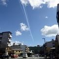 飛行機雲/あの日々にはもう二度と戻れない・三条神宮道/2018年10月8