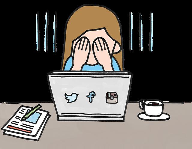 パソコンと女の子イラスト