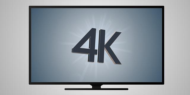 テレビ 4K イラスト