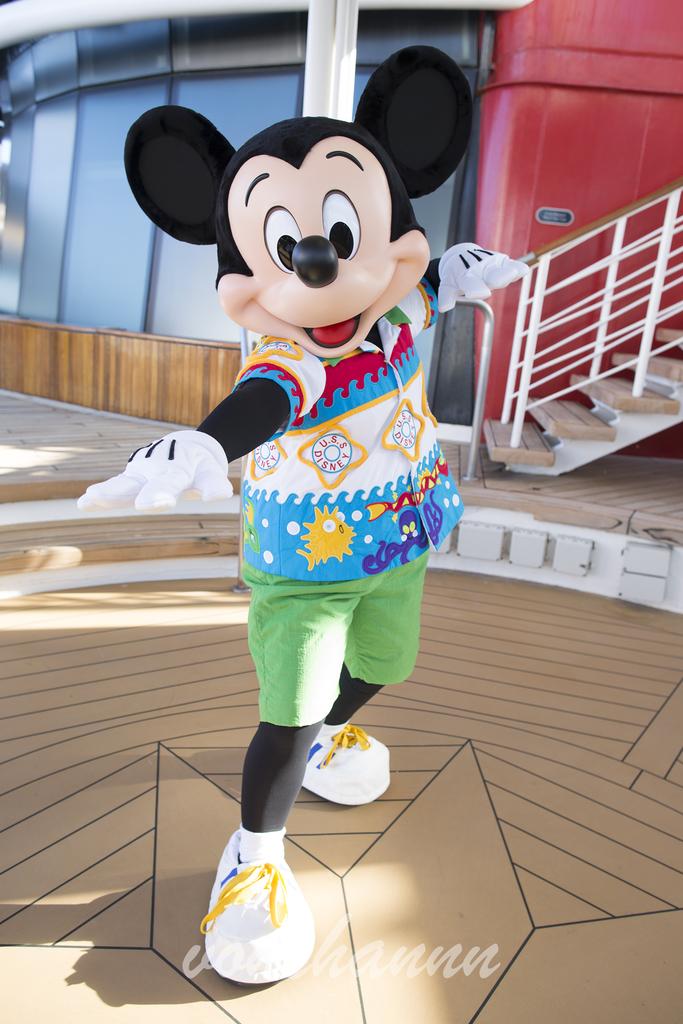 波乗りポーズのミッキーマウス