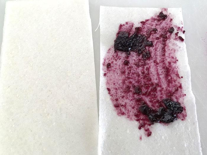 シガールの作り方 春巻きの皮にジャムを塗る