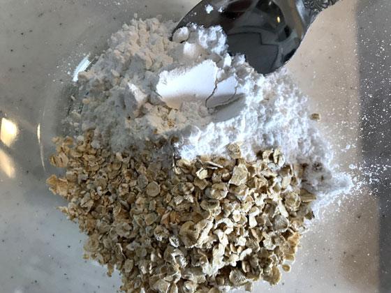 どら焼き:材料をまぜる