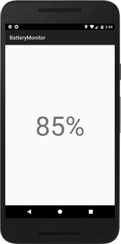 アンドロイド開発「バッテリー残量の監視」①