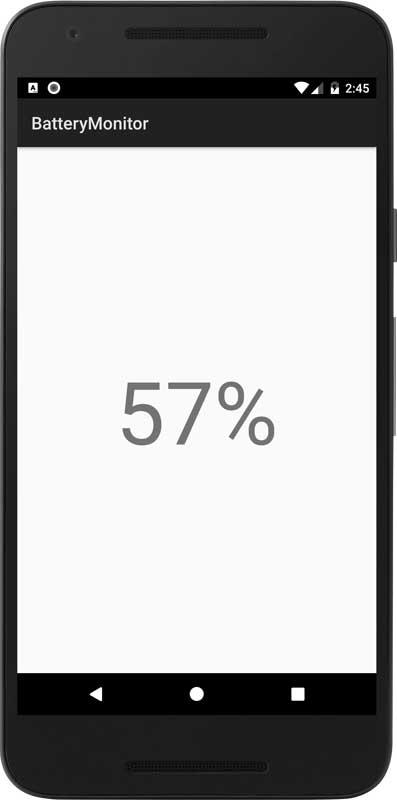 アンドロイド開発「バッテリー残量の監視」②