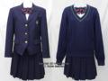川越南高校の制服(冬)