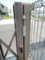 伸縮門扉の調整後