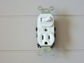 Leviton 5225 Combination Single Pole Quiet Switch & U-Ground Outlet