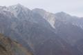 白馬三山 右から白馬岳 杓子岳 白馬鑓ヶ岳