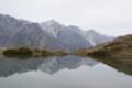 八方池に写る白馬三山