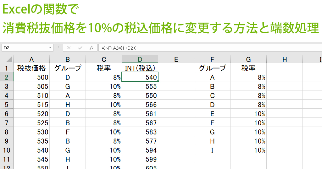 パーセント 消費 税 計算 10