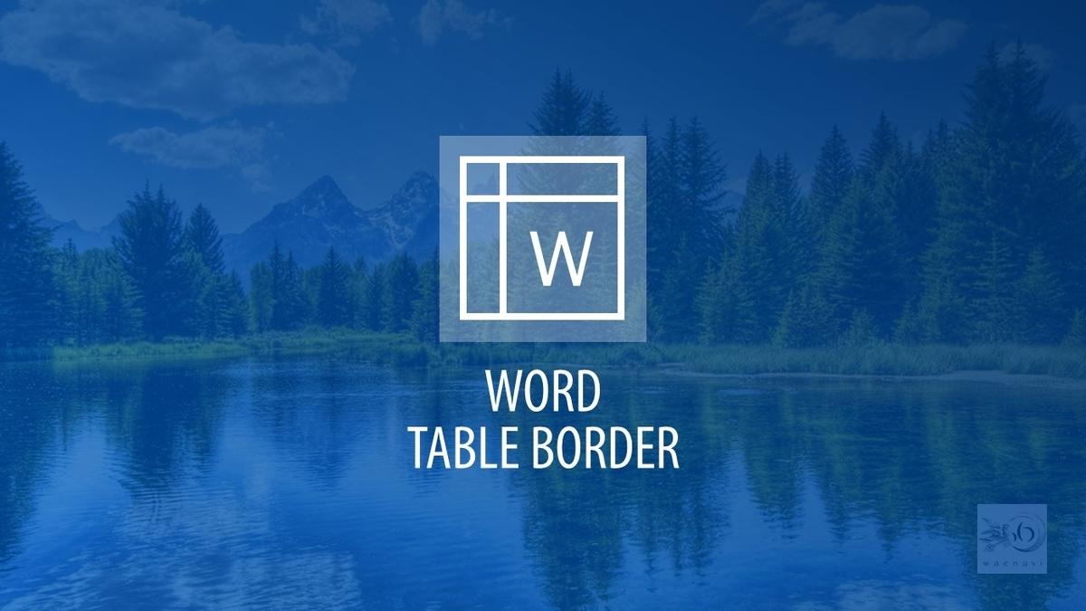 Word罫線表作成(table border)