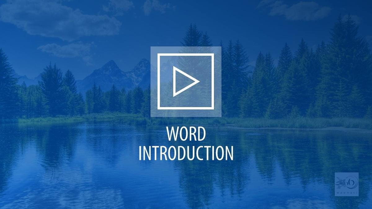 Wordの基礎(word basic introduction)