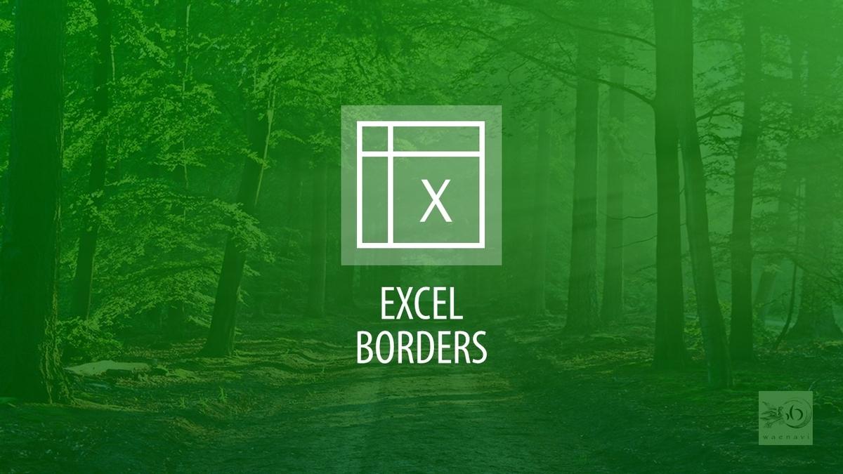 Excel罫線・表作成(borders)