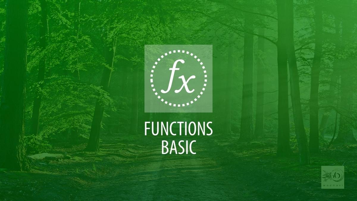 Excel関数基本(functions basic)