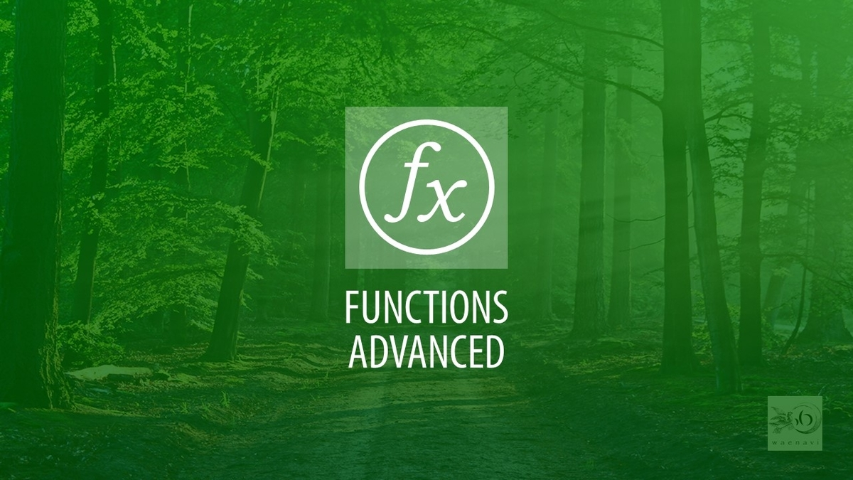 Excel関数応用(functions advanced)