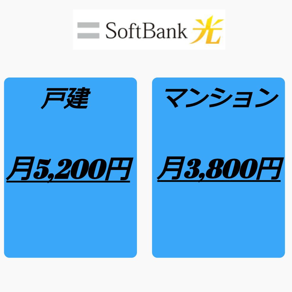 ソフトバンク光料金1