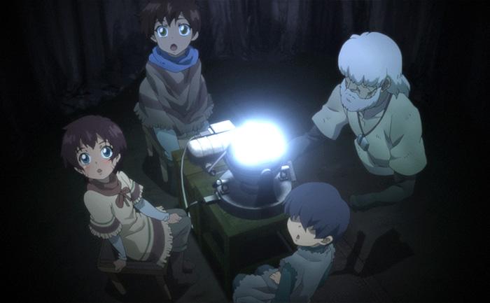 星を観る子供たちと老人