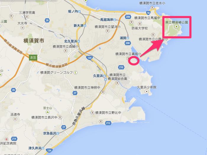 Google_マップ_観音崎