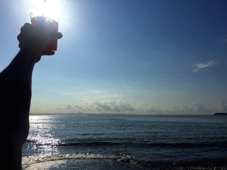 9月の三浦海岸とコーヒー