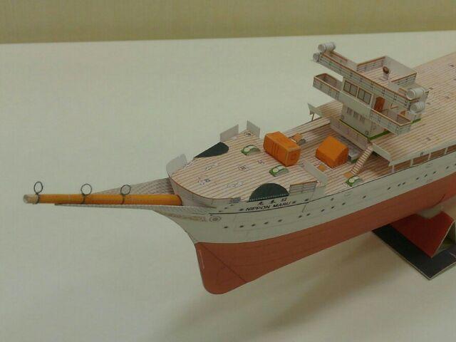 帆船日本丸 船体前部構造物