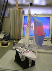ヨットのセイルカーブ