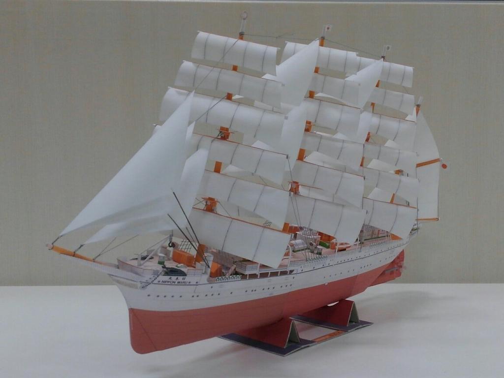 帆船日本丸左舷