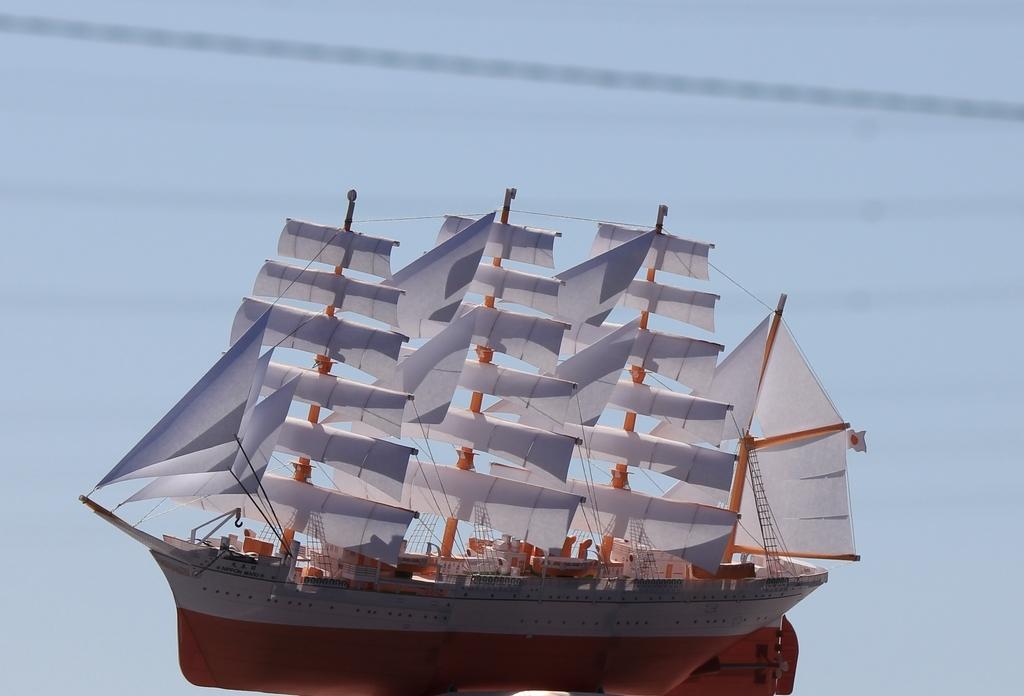 帆船「日本丸」ペーパーモデルアート