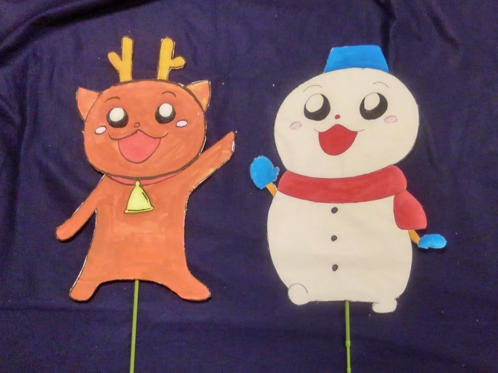 トナカイさんと雪だるまさん