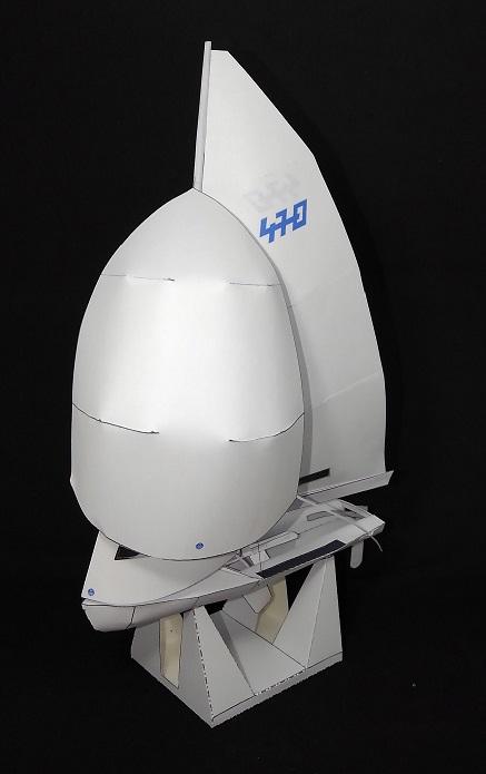 ヨット 470級 ペーパクラフト