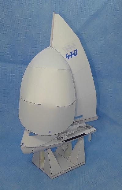 ヨット 470級 ペーパークラフト