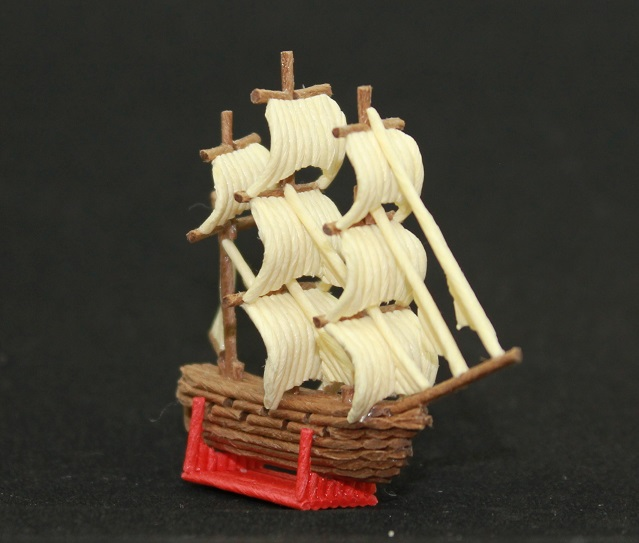 紙バンドクラフト フリゲート艦