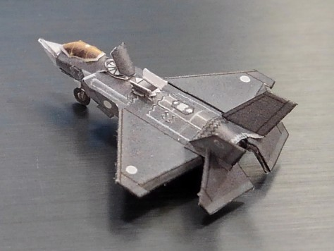 STOVL機 F-35B ペーパーモデル