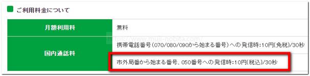 マイネオ10円(税込)/30秒