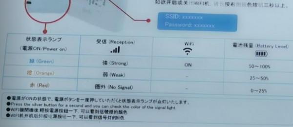 超格安WiFiの説明書