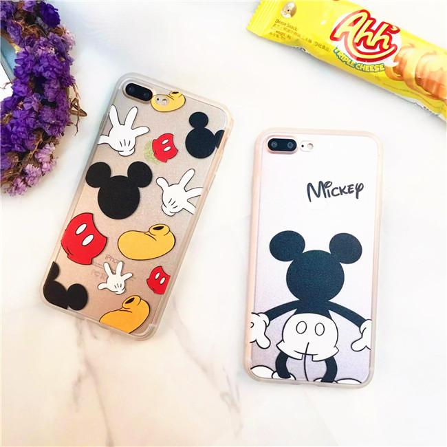 ディズニー Disneyキャラクター カップル向けペアケース後ろ姿ミッキーiphone7ケースMickeyアイフォン6s plus保護カバー5seケース