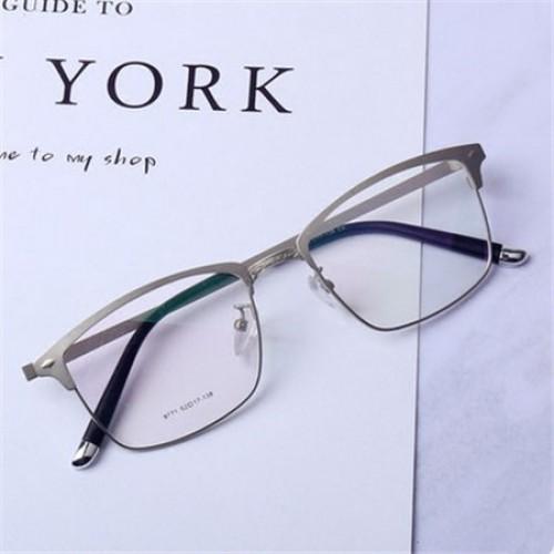 眼鏡価格比較銀縁2017最新デザインメガネ韓国男子フレーム度入りレンズメガネの店フルリム型ビジネス風カジュアル金属メタル