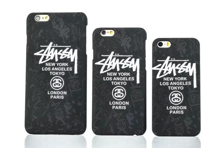 ステューシー STUSSY iPhone7/7 Plus/6ケースストリートファッションブランド芸能人愛用ユニックマット素材アイフォンPlusハード保護カバーかっこい