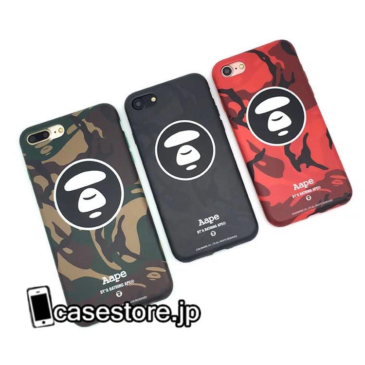 エーエイプAape迷彩さるサル猿頭男性iphone7PLUSアイフォン7TPUケースカップル向け