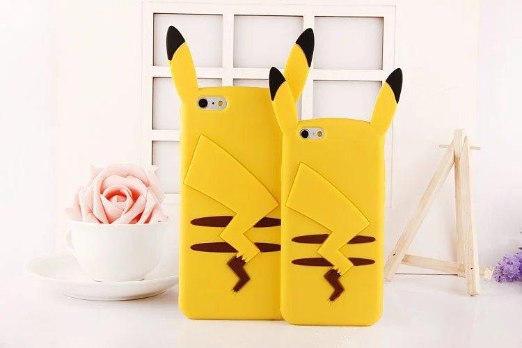 iPhone SE ケース ブランドポケモンGOポケットモンスター ピカチュウiPhone7/6plusアイフォン6s/SE立体シリコン携帯カバーPokemon goかわいいキャラクタ