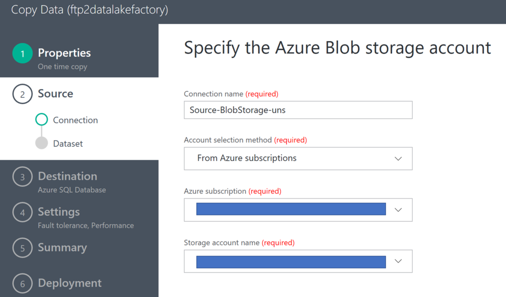 How to copy comma separated CSV files into Azure SQL Database with