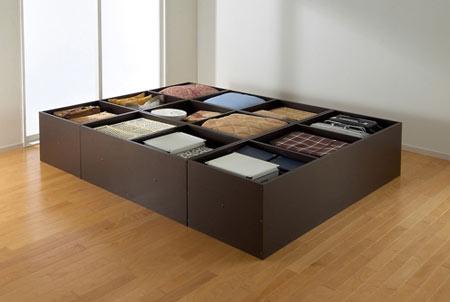 高床式ユニット畳の天板取り外しタイプ