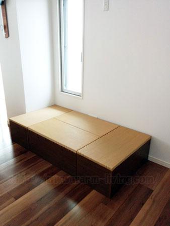 ヨシオ家の高床式ユニット畳、昼寝ベッドバージョン