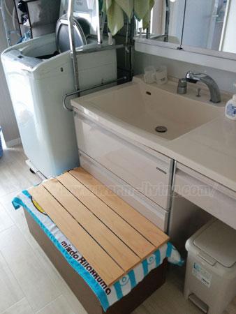 ヨシオ家の高床式ユニット畳、子供の踏み台バージョン