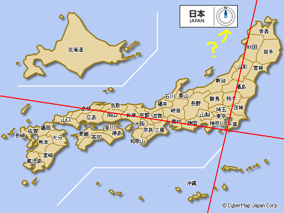 日本地図・緯度経度追加 個別「[地図] 日本地図・緯度経度追加」の写真、...