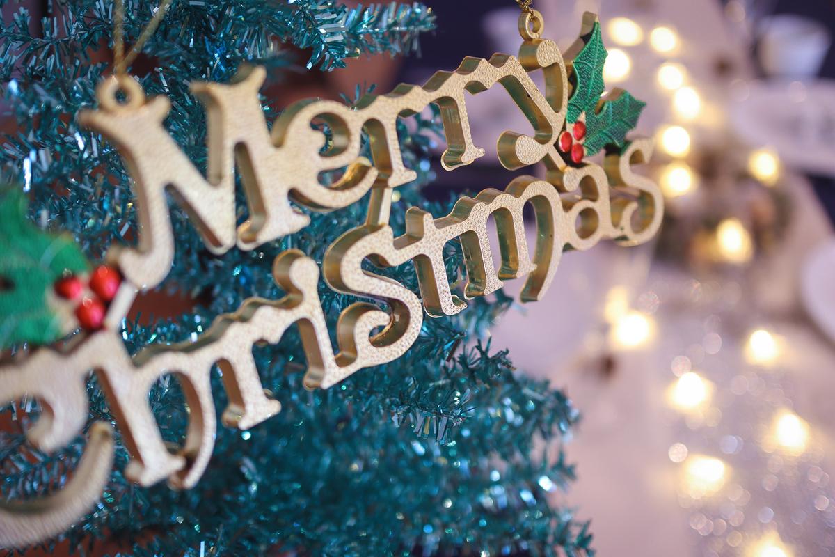 クリスマスツリーと飾り