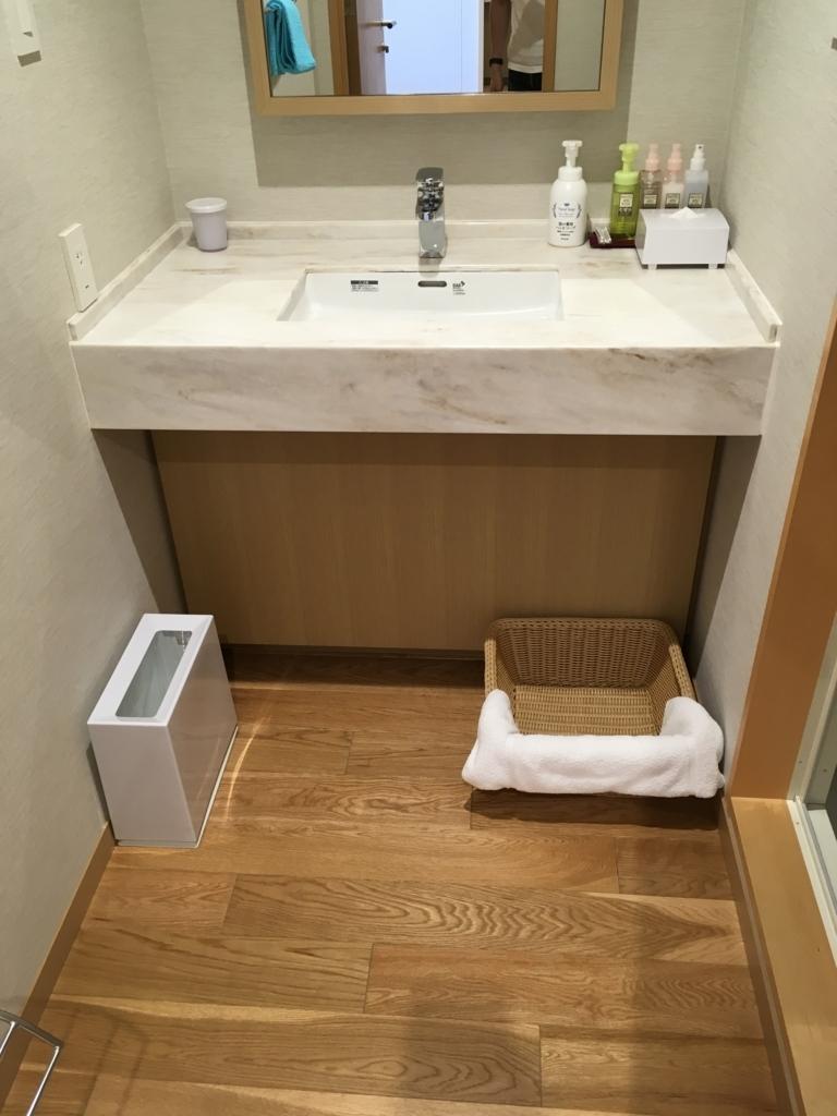 トスラブ 館山ルアーナの客室 洗面所