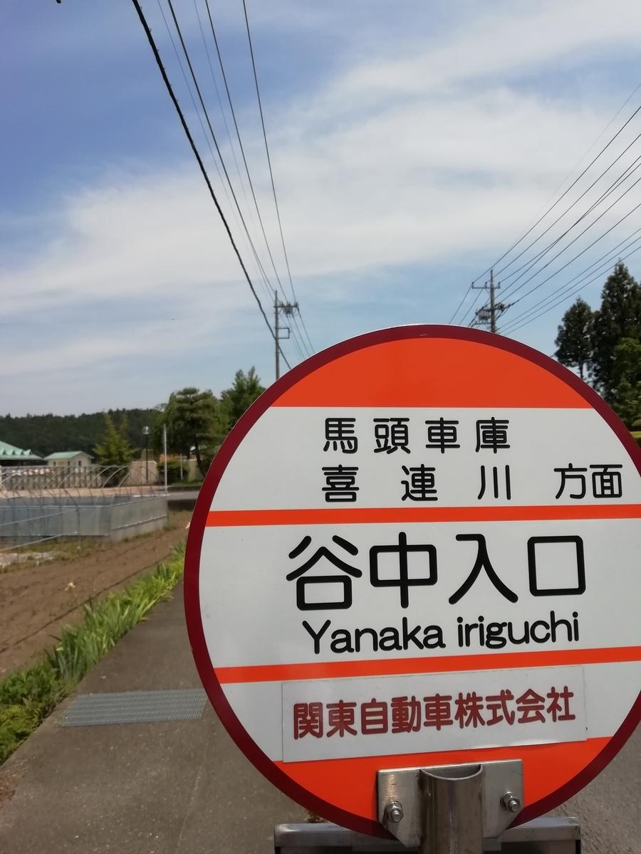 早乙女温泉の最寄りバス停は谷中入口