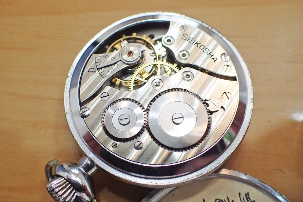 精工舎の懐中時計
