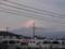 今日の富士山 雨が上がってギリギリ姿を現しました