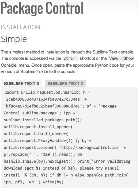 https://packagecontrol.io/installation